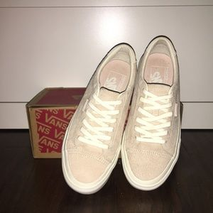 NEW Vans Pink Suede Lace Up Sneakers